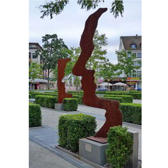 Wholesale Outdoor Metal Garden Art Corten Steel Face Sculpture